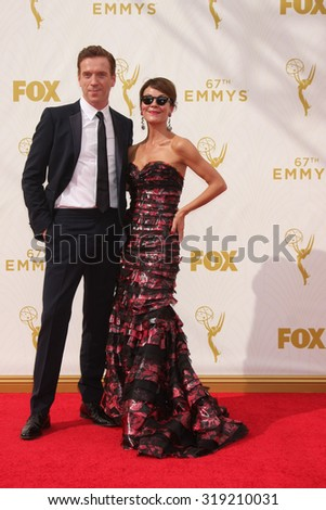 LOS ANGELES - SEP 20:  Damian Lewis at the Primetime Emmy Awards Arrivals at the Microsoft Theater on September 20, 2015 in Los Angeles, CA - stock photo