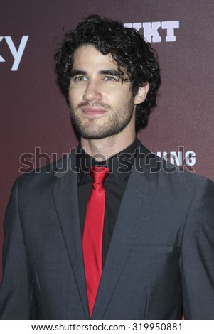 "LOS ANGELES - SEP 21:  Darren Criss at the Premiere of FOX TV's ""Scream Queens"" at the Wilshire Ebell Theater on September 21, 2015 in Los Angeles, CA - stock photo"