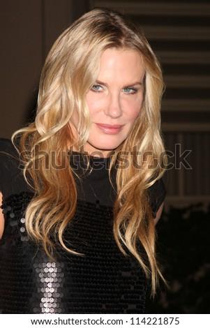 LOS ANGELES - SEP 29:  Daryl Hannah arrives at the 2012 Environmental Media Awards at Warner Brothers Studio on September 29, 2012 in Burbank, CA - stock photo