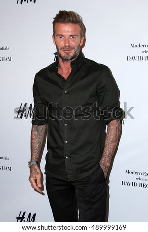 LOS ANGELES - SEP 26:  David Beckham at the H&M Modern Essentials Campaign Launch at the H&M Store on September 26, 2016 in Los Angeles, CA