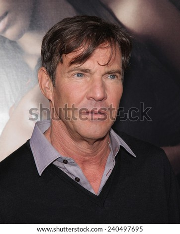 "LOS ANGELES - SEP 12:  Dennis Quaid arrives to the ""The Words"" Premiere  on September 12, 2012 in Hollywood, CA                 - stock photo"