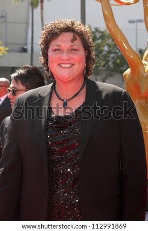 LOS ANGELES - SEP 15:  Dot Marie Jones arrives at the  Primetime Creative Emmys 2012 at Nokia Theater on September 15, 2012 in Los Angeles, CA - stock photo