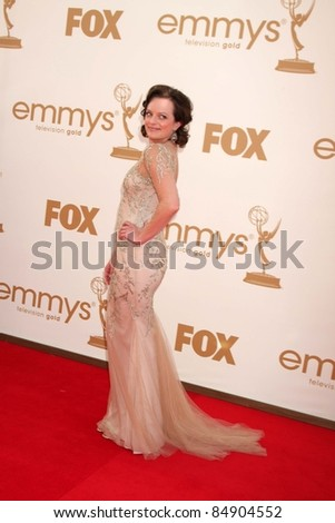 LOS ANGELES - SEP 18:  Elisabeth Moss arriving at the 63rd Primetime Emmy Awards at Nokia Theater on September 18, 2011 in Los Angeles, CA - stock photo