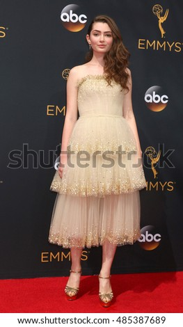 LOS ANGELES - SEP 18:  Emily Robinson at the 2016 Primetime Emmy Awards - Arrivals at the Microsoft Theater on September 18, 2016 in Los Angeles, CA
