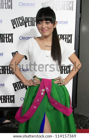 "LOS ANGELES - SEP 24:  Hana Mae Lee arrives at the ""Pitch Perfect'"" Premiere at ArcLight Cinemas on September 24, 2012 in Los Angeles, CA"