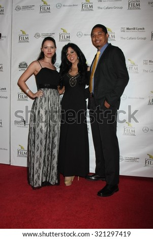 "LOS ANGELES - SEP 25:  ""Harmony"" Film makers at the Catalina Film Festival Friday Evening Gala at the Avalon Theater on September 25, 2015 in Avalon, CA"