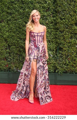 LOS ANGELES - SEP 12:  Heidi Klum at the Primetime Creative Emmy Awards Arrivals at the Microsoft Theater on September 12, 2015 in Los Angeles, CA - stock photo