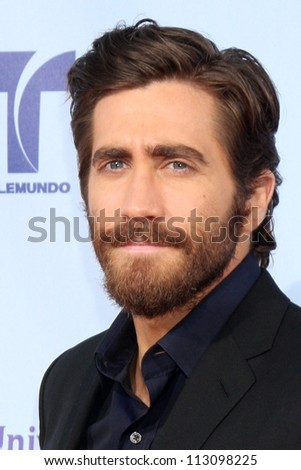 LOS ANGELES - SEP 16:  Jake Gyllenhaal arrives at the 2012 ALMA Awards at Pasadena Civic Auditorium on September 16, 2012 in Pasadena, CA - stock photo