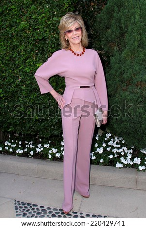 LOS ANGELES - SEP 28:  Jane Fonda at the The Rape Foundation's Annual Brunch at Private Location on September 28, 2014 in Beverly Hills, CA - stock photo