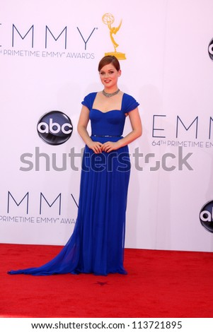 LOS ANGELES - SEP 23:  Jane Levy arrives at the 2012 Emmy Awards at Nokia Theater on September 23, 2012 in Los Angeles, CA - stock photo