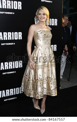 LOS ANGELES - SEP 6: Jennifer Morrison at the world premiere of 'Warrior' on September 6, 2011 in Los Angeles, California