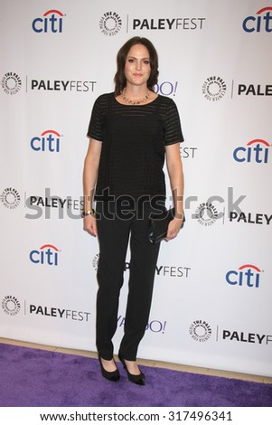"LOS ANGELES - SEP 16:  Jorja Fox at the PaleyFest 2015 Fall TV Preview - ""CSI"" Farewell Salute at the Paley Center For Media on September 16, 2015 in Beverly Hills, CA - stock photo"