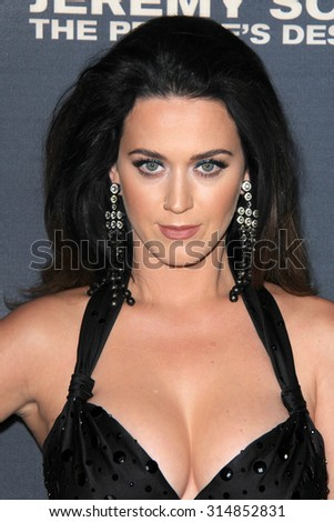 "LOS ANGELES - SEP 8:  Katy Perry at the ""Jeremy Scott: The People's Designer"" World Premiere at the TCL Chinese Theater on September 8, 2015 in Los Angeles, CA - stock photo"