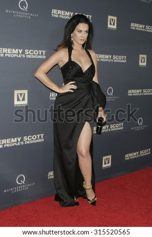 """LOS ANGELES - SEP 8:  Katy Perry at the """"Jeremy Scott: The People's Designer"""" World Premiere at the TCL Chinese Theater on September 8, 2015 in Los Angeles, CA - stock photo"""