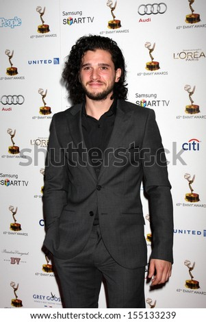 LOS ANGELES - SEP 20:  Kit Harington at the Emmys Performers Nominee Reception at  Pacific Design Center on September 20, 2013 in West Hollywood, CA - stock photo
