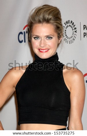 LOS ANGELES - SEP 10:  Maggie Lawson at the PaleyFest Previews:  Fall TV ABC  at Paley Center for Media on September 10, 2013 in Beverly Hills, CA - stock photo