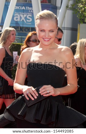 LOS ANGELES - SEP 15:  Malin Akerman at the Creative Emmys 2013 - Arrivals at Nokia Theater on September 15, 2013 in Los Angeles, CA - stock photo