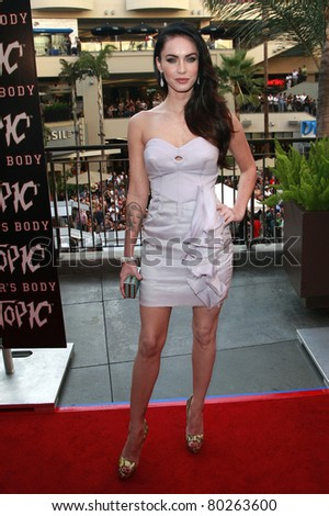 LOS ANGELES - SEP 16: Megan Fox at the 'Jennifer's Body' Hot Topic Fan Event at Hollywood and Highland in Los Angeles, California on September 16, 2009 - stock photo