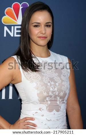 LOS ANGELES - SEP 16:  Melissa Fumero at the NBC & Vanity Fair's 2014-2015 TV Season Event at Hyde Sunset on September 16, 2014 in West Hollywood, CA - stock photo