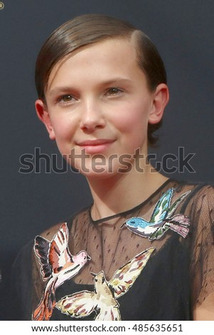LOS ANGELES - SEP 18:  Millie Bobby Brown at the 2016 Primetime Emmy Awards - Arrivals at the Microsoft Theater on September 18, 2016 in Los Angeles, CA