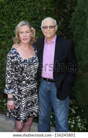 LOS ANGELES - SEP 29:  Norman Lear, Lyn Lear at the Rape Foundation Annual Brunch at Green Acres Estate on September 29, 2013 in Beverly Hills, CA - stock photo
