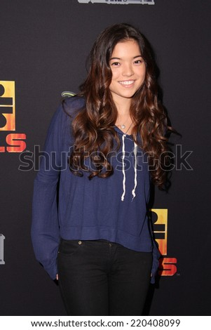 "LOS ANGELES - SEP 27:  Piper Curda at the ""Star Wars Rebels"" Premiere Screening at AMC Century City on September 27, 2014 in Century City, CA - stock photo"