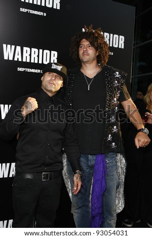 LOS ANGELES - SEP 6: Punk Ass, Scraper at the world premiere of 'Warrior' on September 6, 2011 in Los Angeles, California - stock photo