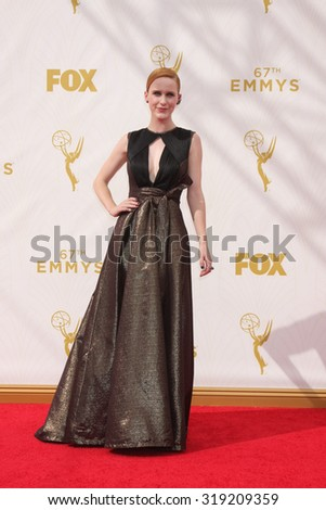LOS ANGELES - SEP 20:  Rachel Brosnahan at the Primetime Emmy Awards Arrivals at the Microsoft Theater on September 20, 2015 in Los Angeles, CA - stock photo