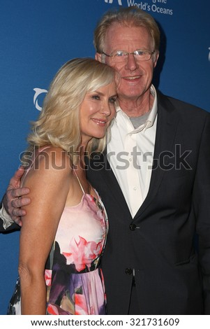 "LOS ANGELES - SEP 28: Rachelle Carson, Ed Begley Jr at the ""Concert for Our Oceans"" benefitting Oceana at the Wallis Annenberg Center for the Performing Arts on September 28, 2015 in Beverly Hills, CA - stock photo"