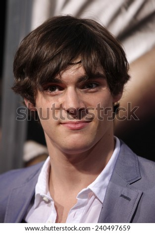 "LOS ANGELES - SEP 12:  RJ Mitte arrives to the ""The Words"" Premiere  on September 12, 2012 in Hollywood, CA                 - stock photo"