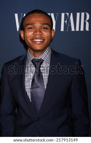 LOS ANGELES - SEP 16:  Robert Bailey, Jr. at the NBC & Vanity Fair's 2014-2015 TV Season Event at Hyde Sunset on September 16, 2014 in West Hollywood, CA - stock photo