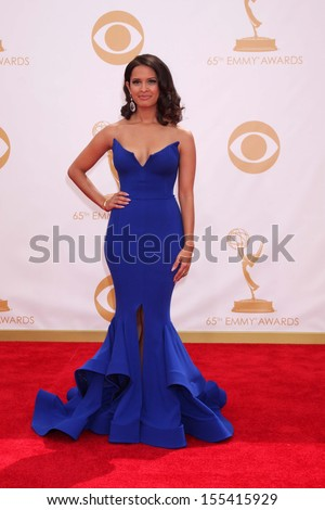 LOS ANGELES - SEP 22:  Rocsi Diaz at the 65th Emmy Awards - Arrivals at Nokia Theater on September 22, 2013 in Los Angeles, CA - stock photo