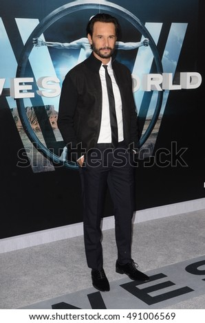 "LOS ANGELES - SEP 28:  Rodrigo Santoro at the HBO's ""Westworld"" Los Angeles Premiere at the TCL Chinese Theater IMAX on September 28, 2016 in Los Angeles, CA"