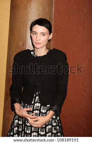 "LOS ANGELES - SEP 6:  Rooney Mara arriving at the ""Tanner Hall"" Screening at the Vista Theater on September 6, 2011 in Los Angeles, CA - stock photo"