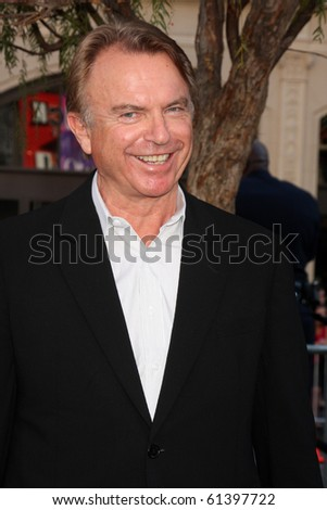 LOS ANGELES - SEP 19:  Sam Neill arrives at the Legend of the Guardians: The Owls of Ga'Hoole Premiere at Grauman's Chinese Theater on September 19, 2010 in Los Angeles, CA - stock photo
