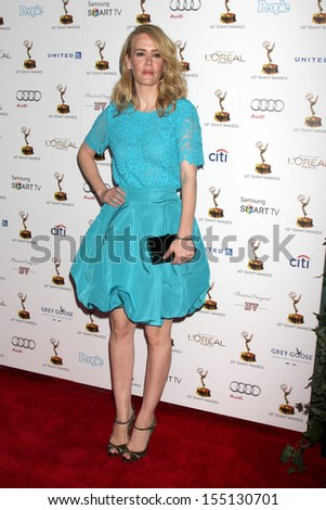 LOS ANGELES - SEP 20:  Sarah Paulson at the Emmys Performers Nominee Reception at  Pacific Design Center on September 20, 2013 in West Hollywood, CA - stock photo