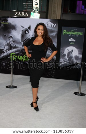 "LOS ANGELES - SEP 24:  Tia Carrere arrives at the ""Frankenweenie"" Premiere at El Capitan Theater on September 24, 2012 in Los Angeles, CA"