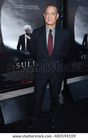 "LOS ANGELES - SEP 8:  Tom Hanks arrives to the ""Sully"" Los Angeles Industry Screening  on September 8, 2016 in Los Angeles, CA"