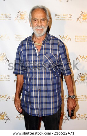 LOS ANGELES - SEP 10:  Tommy Chong at the Dance With Me USA Grand Opening at Dance With Me Studio on September 10, 2014 in Sherman Oaks, CA - stock photo