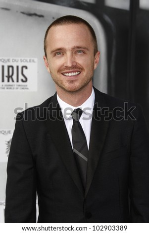 LOS ANGELES - SEPT 25: Aaron Paul at the IRIS, A Journey Through the World of Cinema by Cirque du Soleil premiere at the Kodak Theater on September 25, 2011  in Los Angeles, California - stock photo