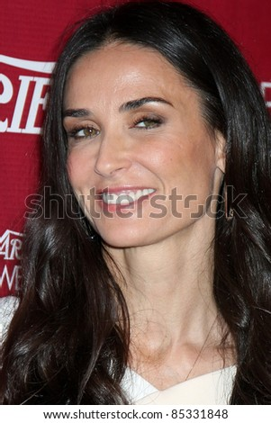 LOS ANGELES - SEPT 23:  Demi Moore arriving at the Variety's Power of Women Luncheon at Beverly Wilshire Hotel on September 23, 2011 in Beverly Hills, CA - stock photo