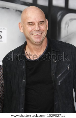 LOS ANGELES - SEPT 25: Guy Laliberte at the IRIS, A Journey Through the World of Cinema by Cirque du Soleil premiere at the Kodak Theater on September 25, 2011  in Los Angeles, California - stock photo