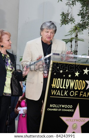 LOS ANGELES - SEPT 7:  Maria Elena Holly, Phil Everly at the Buddy Holly Walk of Fame Ceremony at the Hollywood Walk of Fame on September 7, 2011 in Los Angeles, CA - stock photo