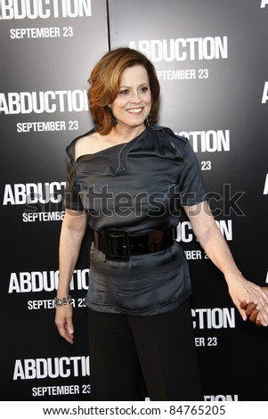 "LOS ANGELES - SEPT 15:  Sigourney Weaver arriving at the ""Abduction"" Premiere at Grauman's Chinese Theater on September 15, 2011 in Los Angeles, CA"