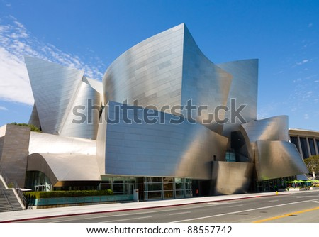 LOS ANGELES - SEPTEMBER 5: Walt Disney Concert Hall in Los Angeles, CA on September 5, 2011. The hall was designed by Frank Gehry and opened on October 24, 2003.