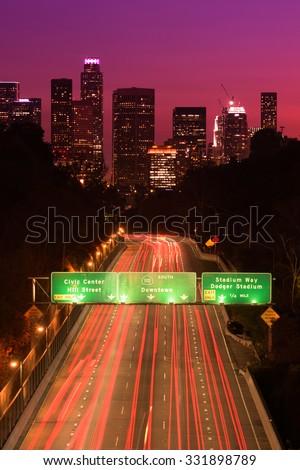Los Angeles Skyline - stock photo