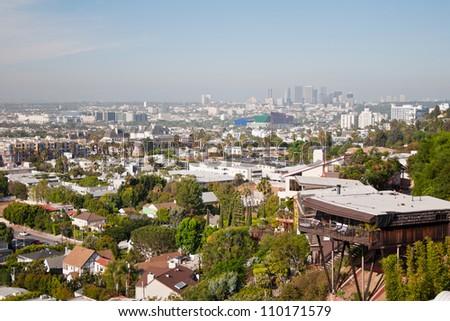Los Angeles skyscrapers - stock photo
