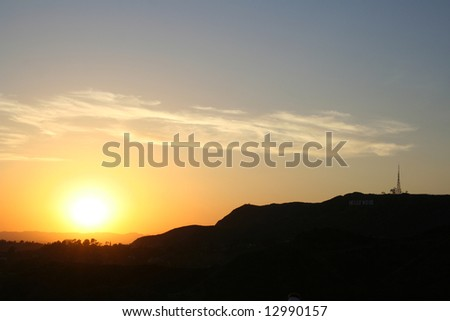 Los Angeles Sunset - stock photo