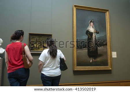LOS ANGELES, THE UNITED STATES - MAY 31, 2015 : The Getty Center, in Los Angeles, California, features a world-class collection of impressionist art. - stock photo