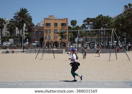 Los Angeles - USA - August 15, 2015 a picture Venice is a district located in the west of the city,. It is located between the city of Santa Monica and the unincorporated area of Marina Del Rey - stock photo